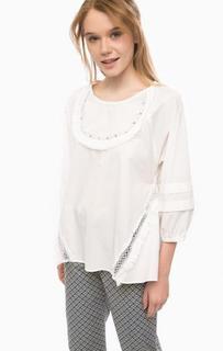 Хлопковая блуза с отделкой бисером Pennyblack