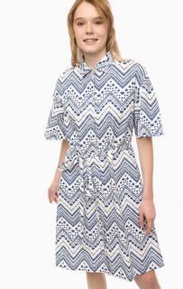 Платье из хлопка с поясом Pennyblack