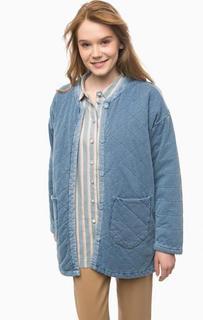 Синяя джинсовая куртка с двумя карманами NÜmph