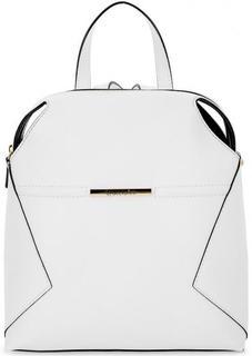 Белый рюкзак на молнии с одним отделом Braccialini
