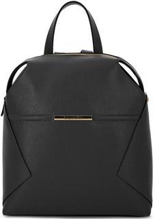 Черный кожаный рюкзак на молнии Braccialini