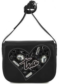 Черная сумка с откидным клапаном Braccialini