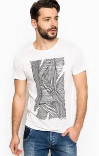 Белая футболка с принтом Marciano Guess