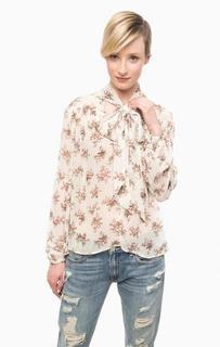 Полупрозрачная блуза с цветочным принтом D&S Ralph Lauren