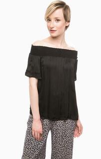 Блуза черного цвета с короткими рукавами D&S Ralph Lauren