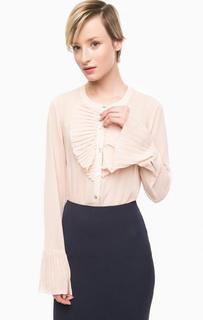 Бежевая блуза на пуговицах Pois
