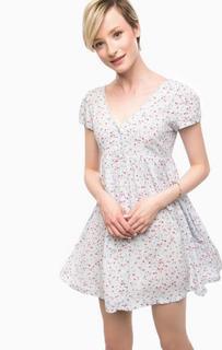 Короткое голубое платье на пуговицах D&S Ralph Lauren