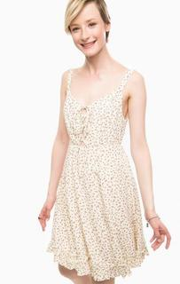 Бежевое платье на бретелях D&S Ralph Lauren