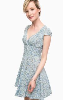 Короткое синее платье на молнии D&S Ralph Lauren