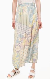 Разноцветная юбка из вискозы Think Chic