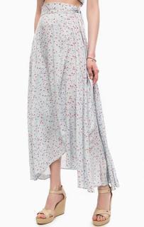 Юбка с запахом и цветочным принтом D&S Ralph Lauren
