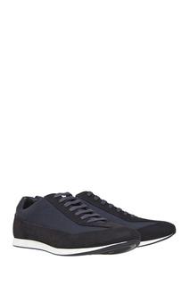 Замшевые кроссовки Hugo Boss