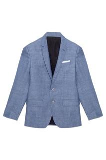 Пиджак Hutsons из шерсти и льна Hugo Boss