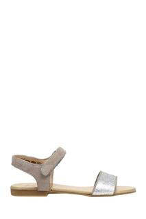 Сандалии из кожи и замши Flip Velcro POM Dapi