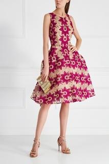 Платье с люрексом Zac Posen