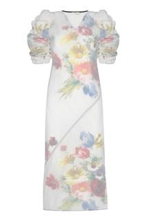 Платье с принтом CÉline