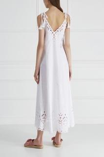 Платье из хлопка и льна Theory