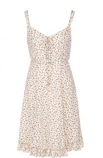 Мини-платье с оборкой и цветочным принтом Denim&Supply by Ralph Lauren