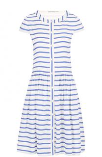 Хлопковое мини-платье в контрастную полоску Alice + Olivia