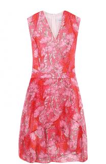 Платье с запахом и цветочным принтом Carven