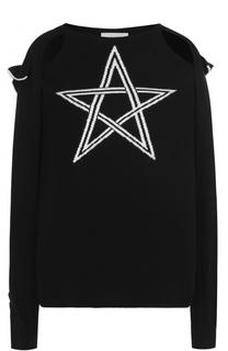 Пуловер с разрезами на рукавах и вышивкой в виде звезды PREEN by Thornton Bregazzi