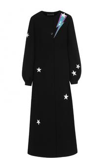 Платье-миди с контрастной вышивкой Racil