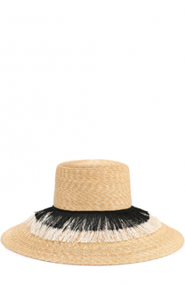 Соломенная шляпа с отделкой Eugenia Kim