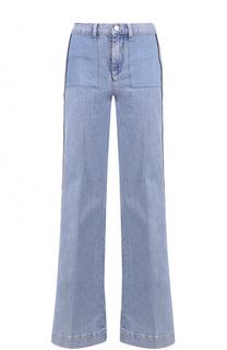 Расклешенные джинсы с лампасами Victoria by Victoria Beckham