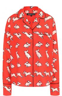 Блуза в пижамном стиле с принтом Markus Lupfer