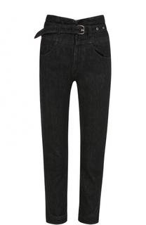 Укороченные джинсы с завышенной талией и поясом Isabel Marant