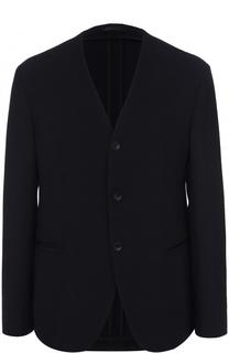 Однобортный пиджак на пуговицах Armani Collezioni