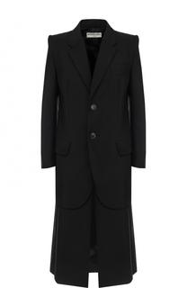 Однобортное пальто прямого кроя Balenciaga