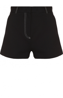 Хлопковые мини-шорты с контрастной прострочкой MSGM