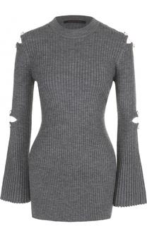 Облегающий пуловер с декорированными рукавами Mother Of Pearl