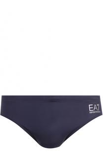 Плавки с логотипом бренда Emporio Armani