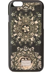 Кожаный чехол для iPhone 6/6S с принтом Dolce & Gabbana