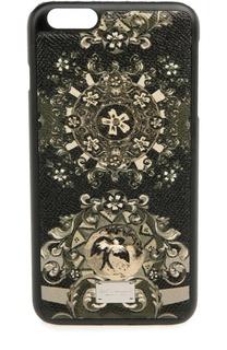 Кожаный чехол для iPhone 6 Plus с принтом Dolce & Gabbana