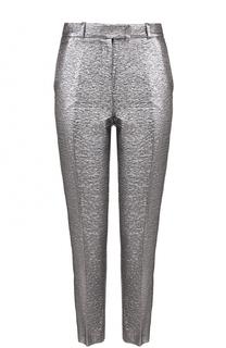 Укороченные брюки с металлизированной отделкой и лампасами Racil