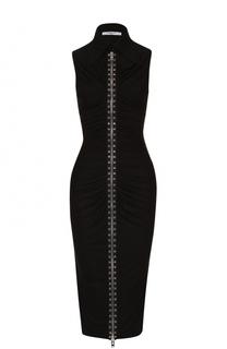 Платье-футляр с контрастной молнией Givenchy