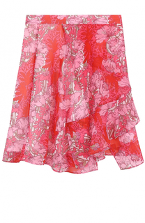 Юбка асимметричного кроя с цветочным принтом Carven