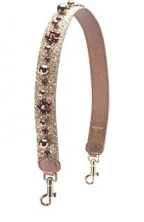 Кожаный ремень для сумки с аппликациями Dolce & Gabbana