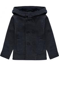 Укороченное двубортное пальто из хлопка с капюшоном Il Gufo