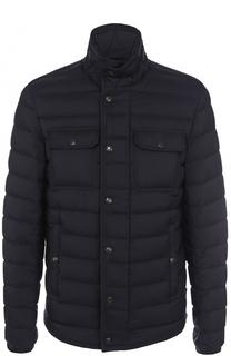 Пуховая стеганая куртка с карманами Moncler