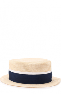 Соломенная шляпа с лентой Maison Michel