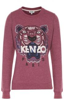 Хлопковый свитшот с вышивкой в виде тигра Kenzo