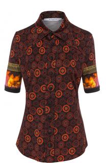 Блуза с укороченным рукавом и принтом Givenchy