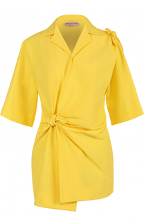 Удлиненная блуза с драпировкой и бантами Emilio Pucci