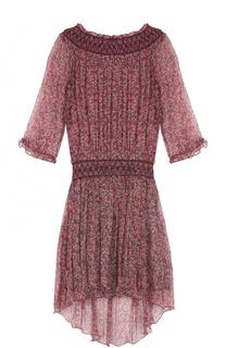 Шелковое платье с открытыми плечами и цветочным принтом Zadig&Voltaire Zadig&Voltaire