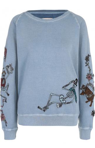 Свитшот свободного кроя с контрастной вышивкой Zadig&Voltaire