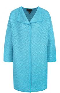 Пальто фактурной вязки с укороченным рукавом St. John